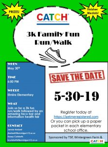 CATCH Fun Run/Walk Flyer