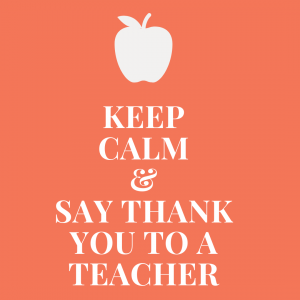 Keep Calm and Say Thank You To A Teacher Sign